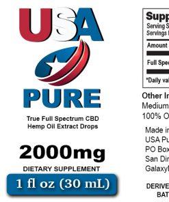 USA Pure CBD 2000mg